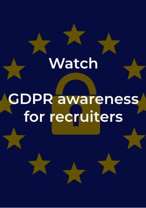 GDPR awareness for recruiters